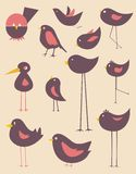 Cute birds vector Royalty Free Stock Photo