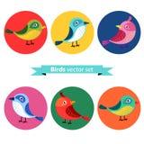 Cute birds in vector. Royalty Free Stock Photos
