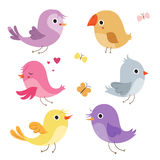Cute birds in vector. Royalty Free Stock Photography