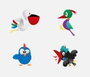 Cute birds vector Stock Image