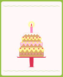 Cute birthday cake. Illustration of cute birthday cake Royalty Free Stock Photo