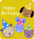 Cute birthday card Stock Photo