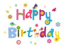 Cute birthday card Royalty Free Stock Image