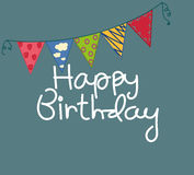 Cute birthday card Stock Images