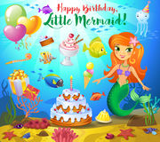 Cute birthday design elements Royalty Free Stock Photos