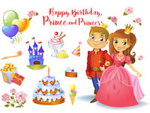 Cute birthday design elements Royalty Free Stock Image