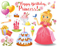 Cute birthday design elements Royalty Free Stock Photo