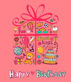 Cute Birthday gift Royalty Free Stock Photography
