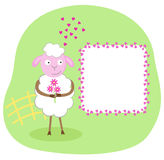 Cute birthday, love or friendship card Stock Images