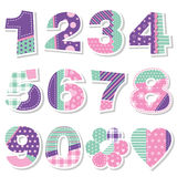 Cute birthday numbers collection Royalty Free Stock Image