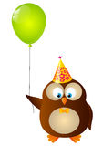 Cute Birthday owl Stock Images