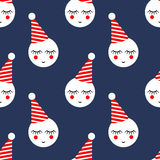 Cute birthday party seamless pattern. Colorful vector background for kids holidays. Royalty Free Stock Image