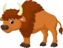 Cute bison cartoon. Illustration of cute bison cartoon Stock Photo