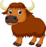 Cute bison cartoon Royalty Free Stock Photography