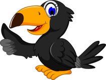 Cute black bird cartoon thumb up. Illustration of cute black bird cartoon thumb up Stock Image