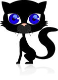 Cute black cat Royalty Free Stock Image