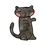 cute black cat cartoon Royalty Free Stock Image