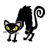 Cute Black Cat Cartoon Stock Photo