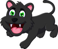 Cute black cat cartoon Stock Photo