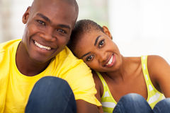 Cute black couple Royalty Free Stock Image