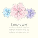 Cute black floral card background Stock Photo