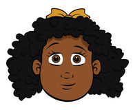Cute black girl Royalty Free Stock Images