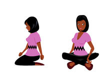 Cute black girl sitting Royalty Free Stock Photo