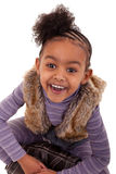 Cute black girl smiling Stock Photography