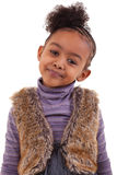 Cute black girl smiling Royalty Free Stock Photo
