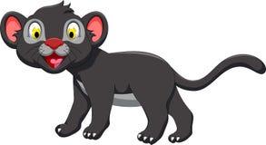 Cute black panther cartoon walking Royalty Free Stock Photography