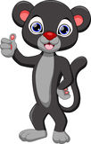 Cute black panther cartoon Royalty Free Stock Image