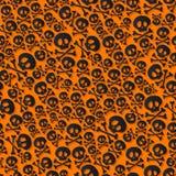 Cute black skulls and crossbones seamless pattern Stock Photo
