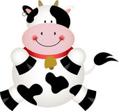 Cute Black and White Cow Royalty Free Stock Photo