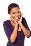 Cute black woman Royalty Free Stock Image