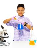 Learning to mix chemicals Stock Images