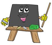 Cute blackboard. On white blackboard - vector illustration Stock Image