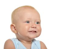 Cute blond baby boy Royalty Free Stock Image