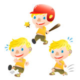 Cute blond boy. There is cute blond boy sporting Royalty Free Stock Photography
