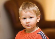 Cute blond boy Stock Images