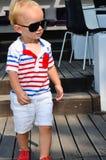 Cute blond child Stock Photos