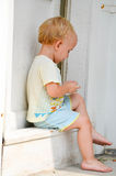 Cute blond child Stock Image