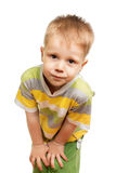 Cute blond funny boy Royalty Free Stock Images