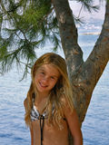 Cute blond girl  Royalty Free Stock Photography