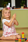 Cute Blond Girl Stock Images