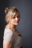 Cute blond girl shot in studio Royalty Free Stock Photo