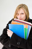Cute blond student. Royalty Free Stock Photos