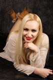 Cute blond in studio Stock Photos