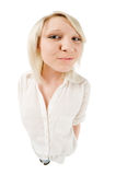 Cute blond teenage girl Royalty Free Stock Photos