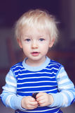 Cute blond toddler Royalty Free Stock Photo