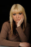 Cute Blond Woman Royalty Free Stock Images